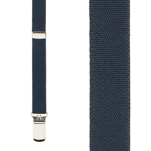 Navy Blue Skinny Suspenders - 1/2 Inch Wide
