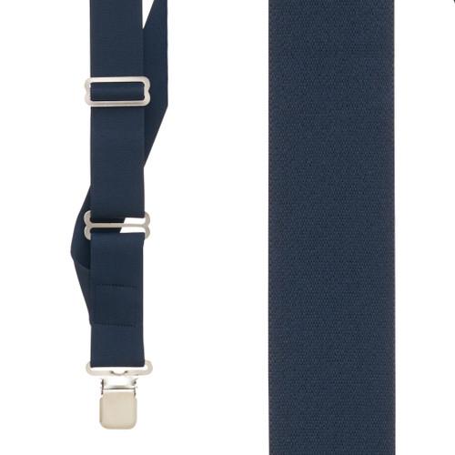 Navy Side Clip Suspenders, 1.5-Inch Wide - Construction Clip