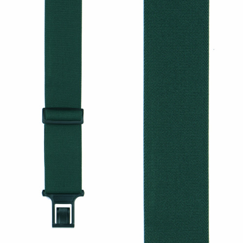 Green Perry Suspenders - 2 Inch Wide Belt Clip