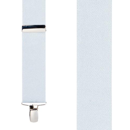 1.5 Inch Wide Clip Suspenders - WHITE