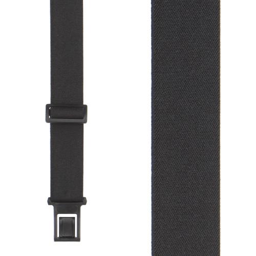 Black Perry Suspenders - 1.5 Inch Wide Belt Clip