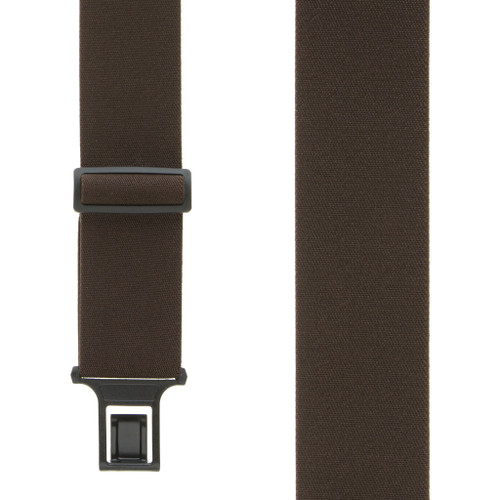 Brown Perry Suspenders - 2 Inch Wide Belt Clip
