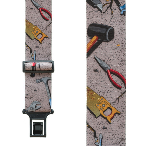 Hand Tools on Grey Suspenders - Belt Clip