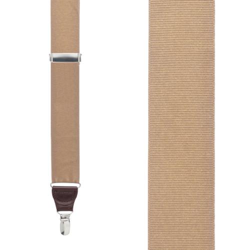 Tan Grosgrain CLIP Suspenders
