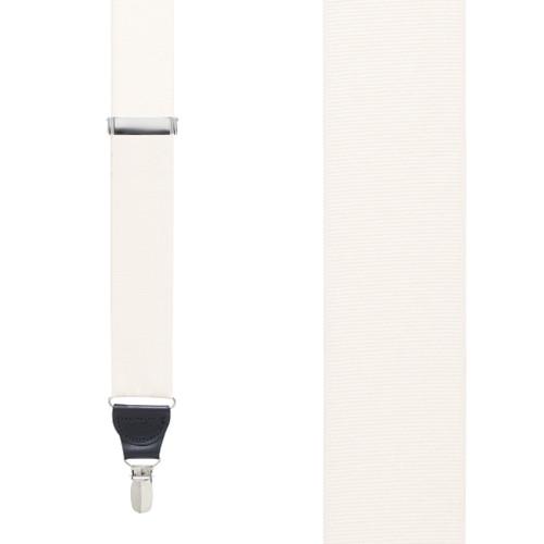 Ivory Grosgrain CLIP Suspenders