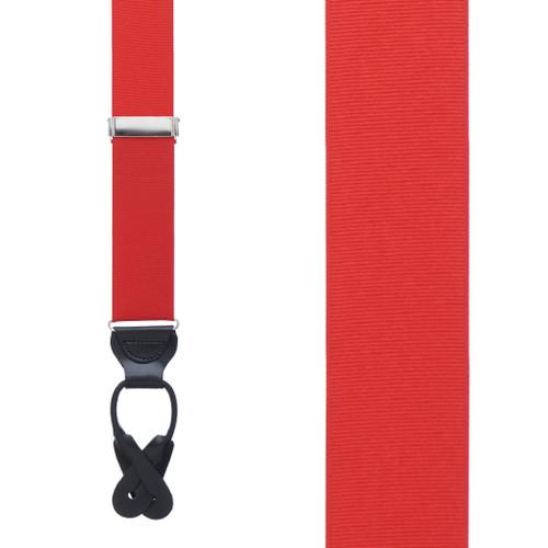 Red Grosgrain BUTTON Suspenders