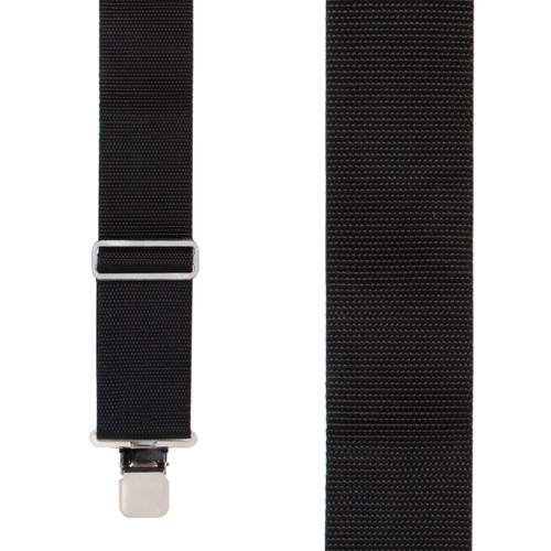 Heavy Duty Work Suspenders - BLACK