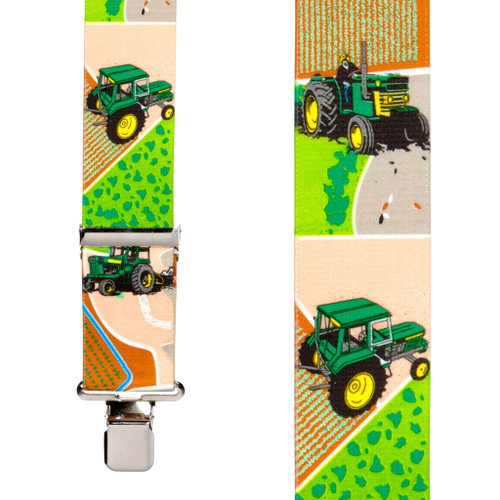 Green Tractors Suspenders
