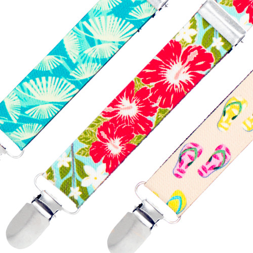 Tropical Hawaiian Suspenders