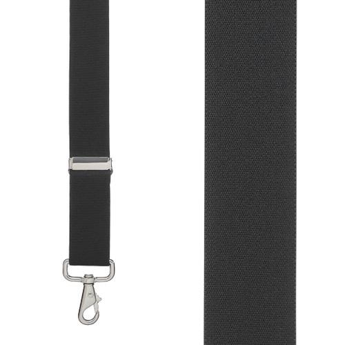 1.5 Inch Wide Trigger Snap Suspenders - BLACK