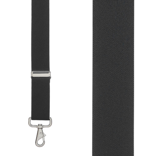 1.5 Inch Wide Trigger Snap Suspenders - BLACK