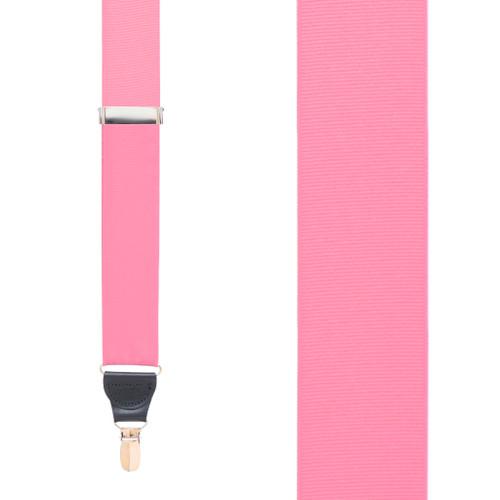 Pink Grosgrain CLIP Suspenders