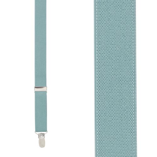 1 Inch Wide Clip Suspenders (Y-Back) - SEAFOAM