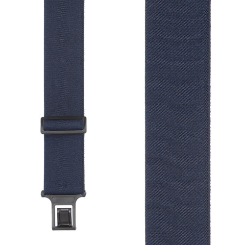 Navy Blue Perry Suspenders - 2 Inch Wide Belt Clip