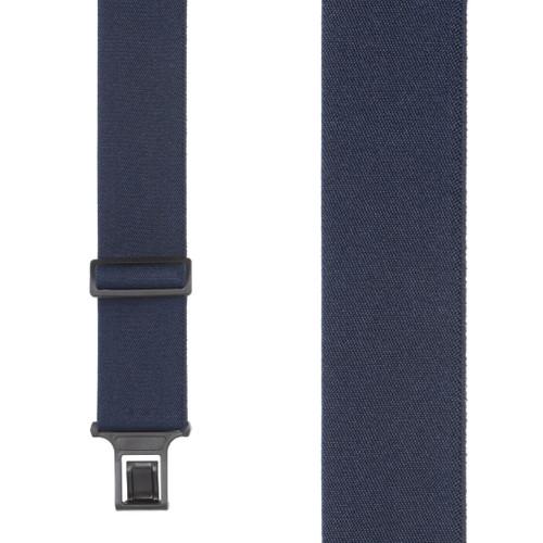 Navy Blue Perry Suspenders - 2 Inch Wide Belt Clip