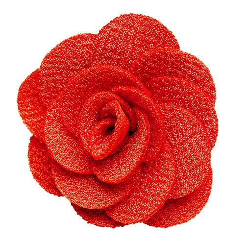 Lapel Flower - CORAL Crepe