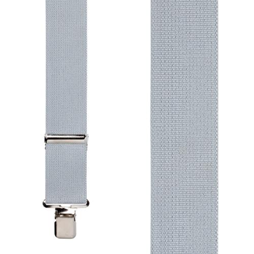 2 Inch Wide Construction Clip Suspenders - LIGHT GREY