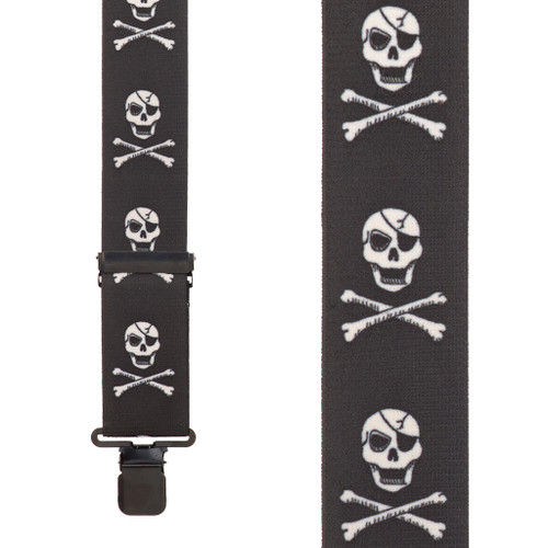 Skull and Crossbones Suspenders