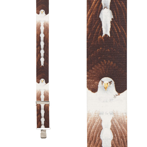 Eagle Suspenders - 2-Inch Wide, Clip