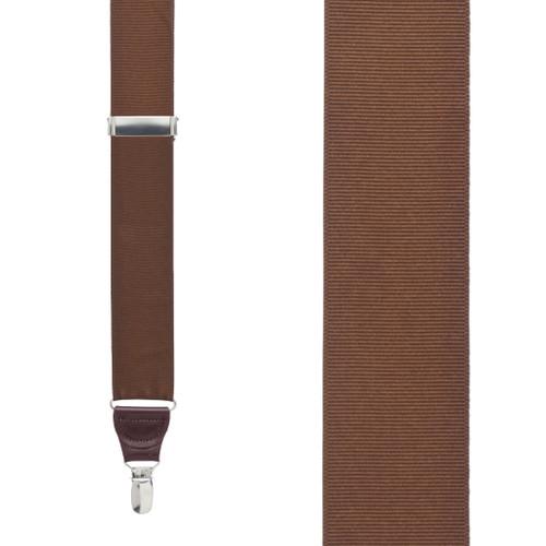 Brown Grosgrain CLIP Suspenders