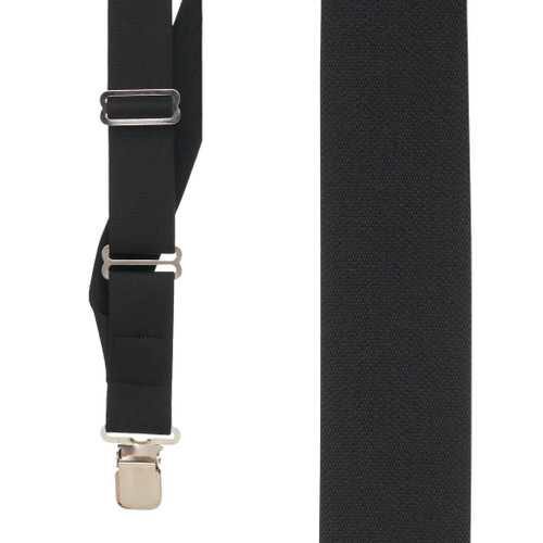 Black Side Clip Suspenders, 1.5-Inch Wide - Construction Clip