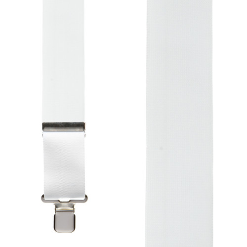 2 Inch Wide Construction Clip Suspenders - WHITE