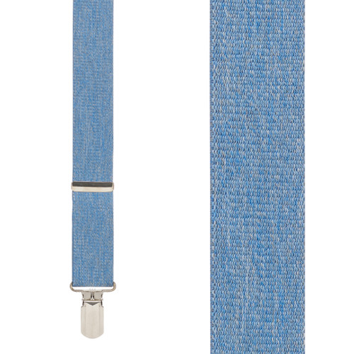 Denim 1.5-Inch Small Pin Clip Suspenders