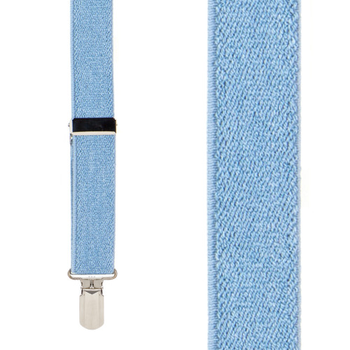 DENIM 1-Inch Small Pin Clip Suspenders