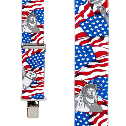American Liberty Suspenders - 1.5 Inch Wide - SALE