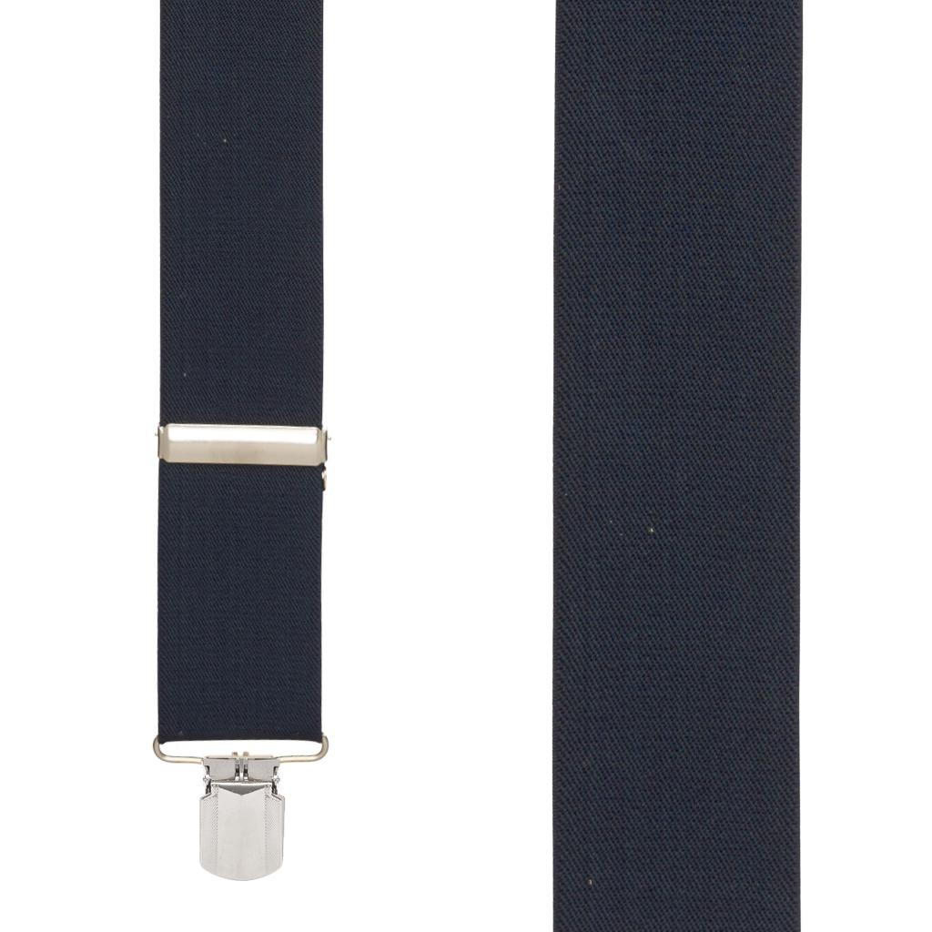 NAVY 2-Inch Wide Pin Clip Suspenders