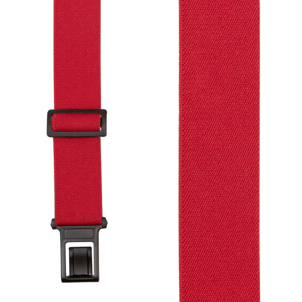 Red Perry Suspenders - 1.5 Inch Wide Belt Clip