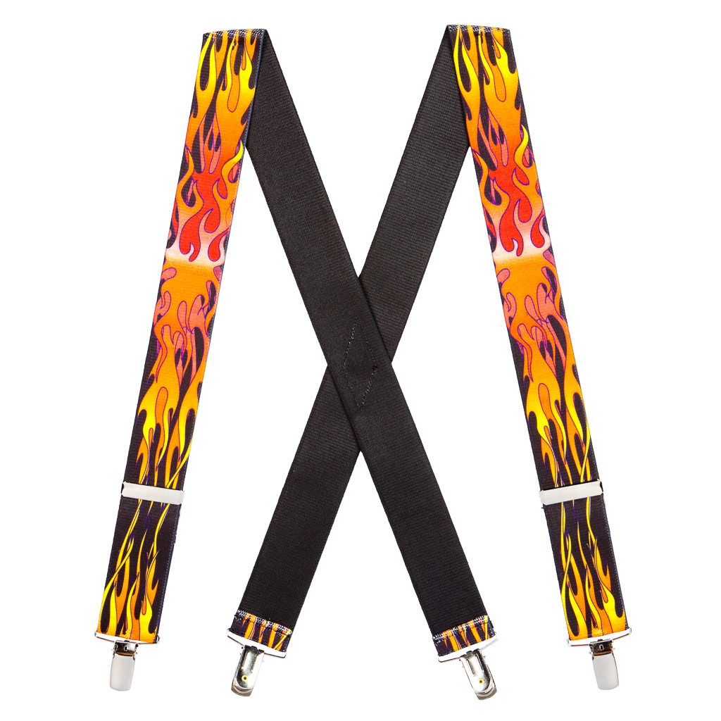 Flames Suspenders for Kids - 36 Inch Only