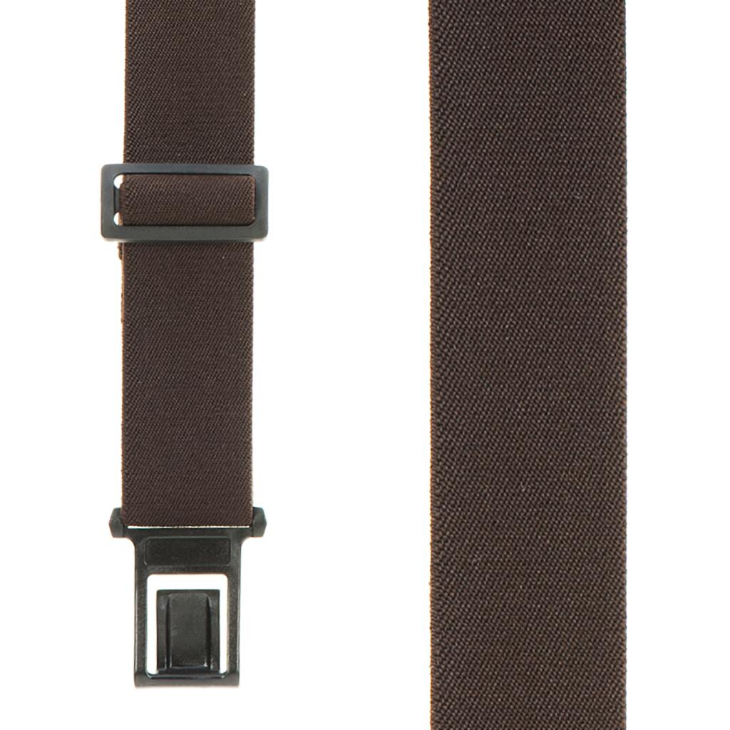 Brown Perry Suspenders - 1.5 Inch Wide Belt Clip