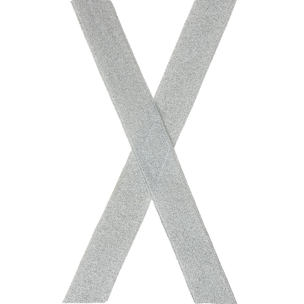 Silver Glitter Suspenders - 1 Inch Wide