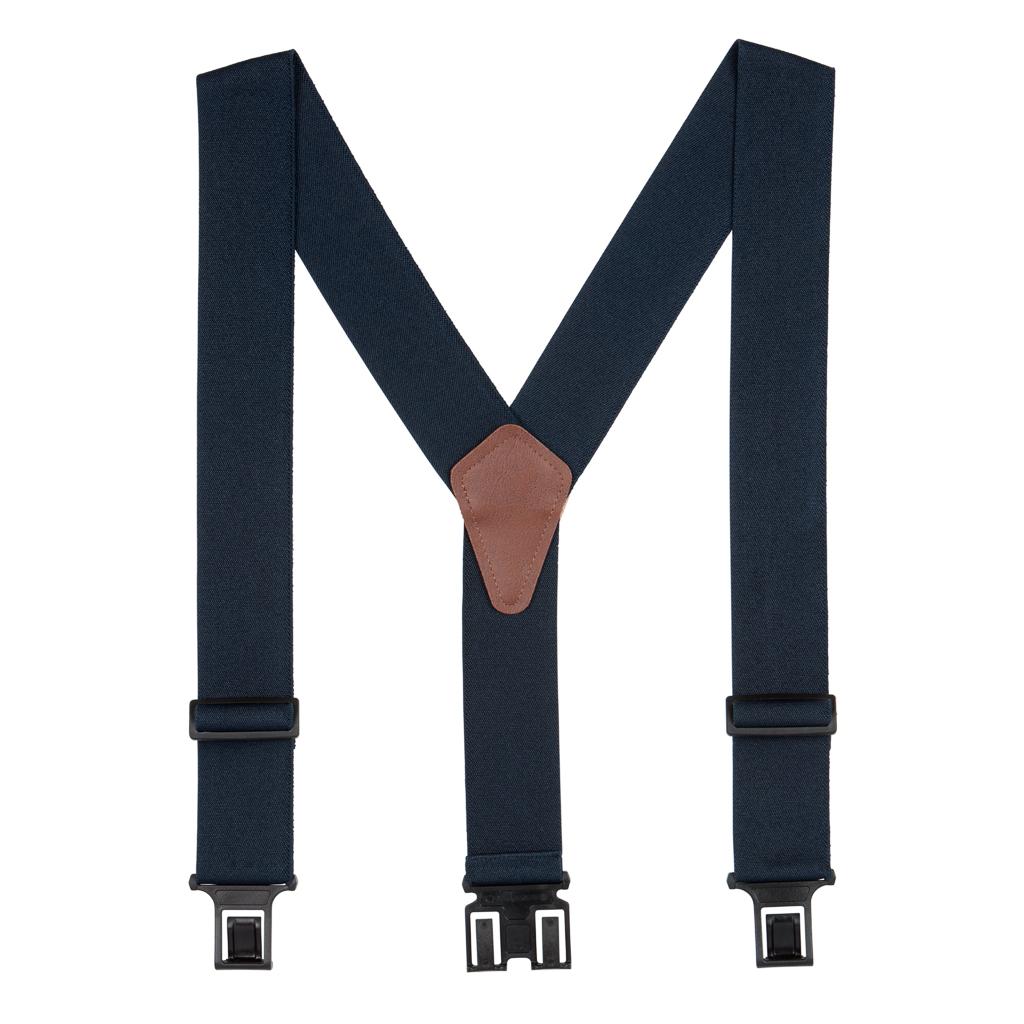 2 Inch Wide Perry Belt Clip Suspenders
