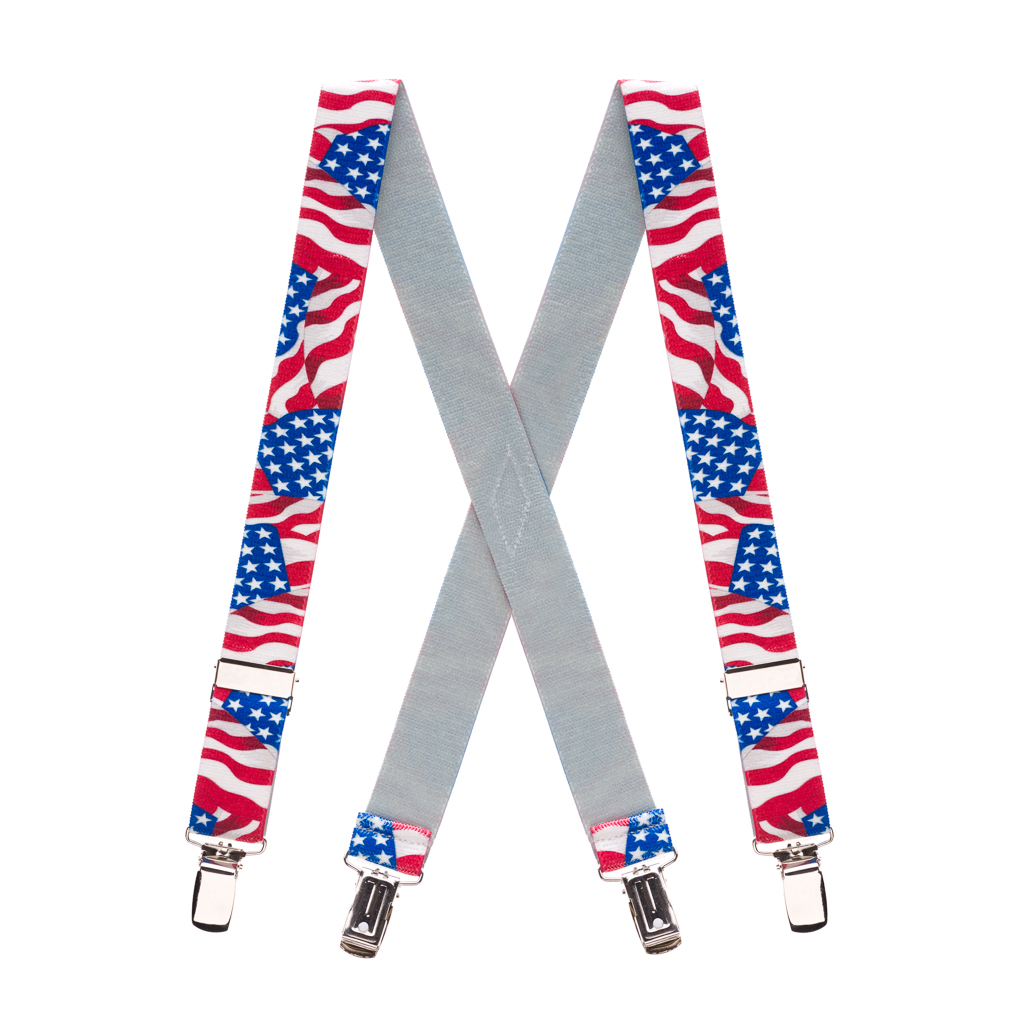 Flag Suspenders for Kids - AMERICAN