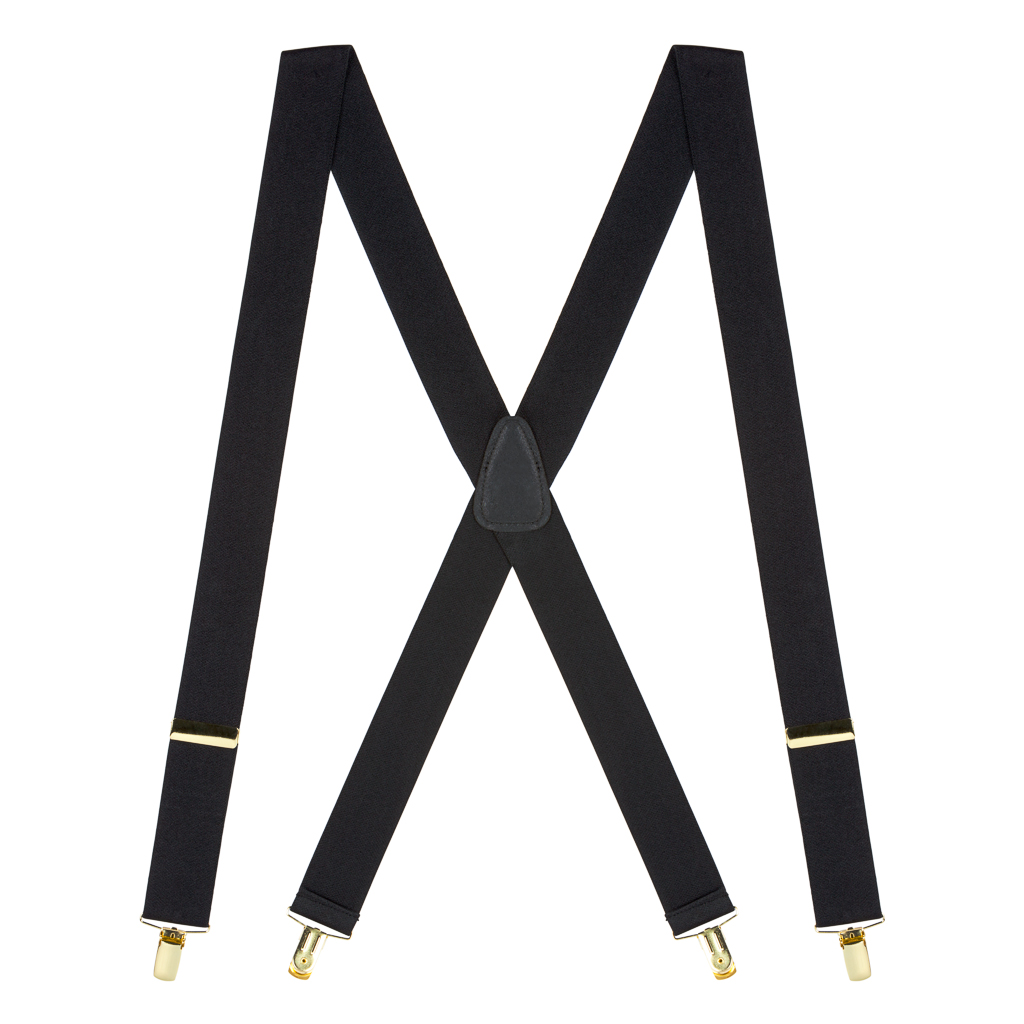 Brass Clip Suspenders - 1.5 Inch Wide