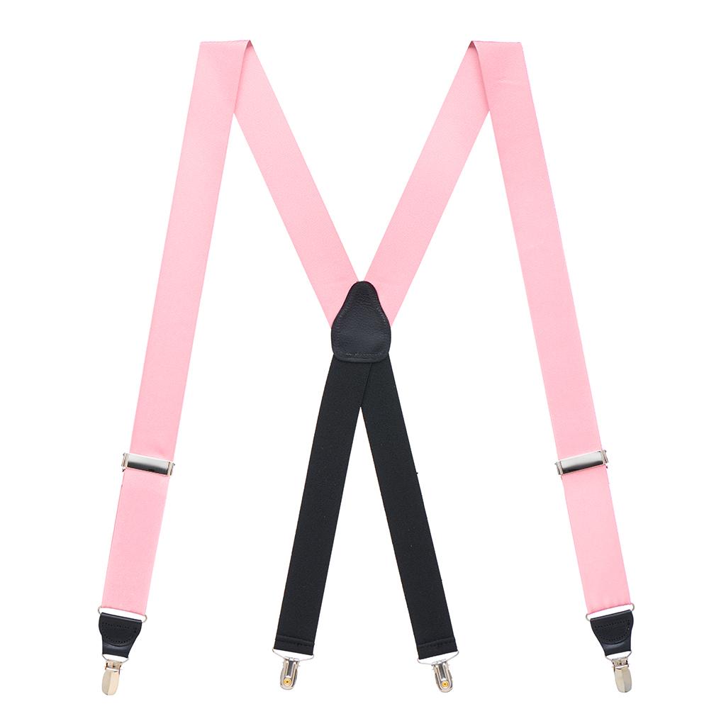 Light Pink Grosgrain CLIP Suspenders