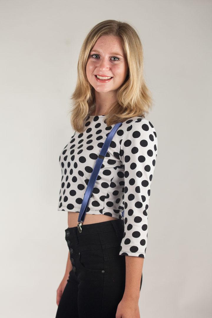 3/4 Inch Wide Thin Suspenders - POWDER BLUE (Satin)