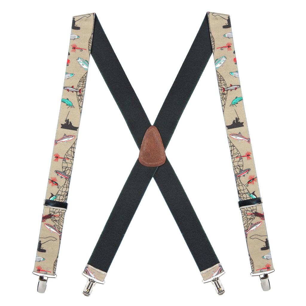 Fisherman Suspenders 1.5 Inch Wide - Dressy Clip