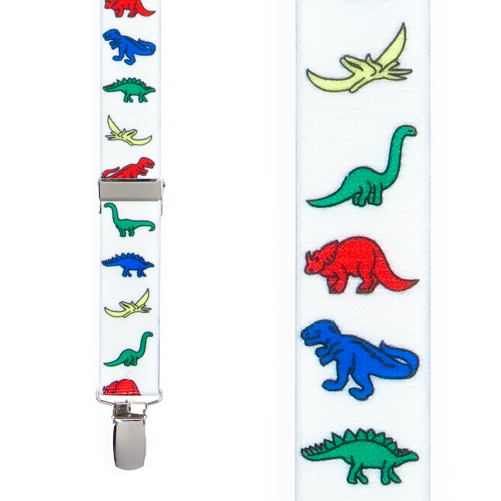 Dinosaur Suspenders for Kids