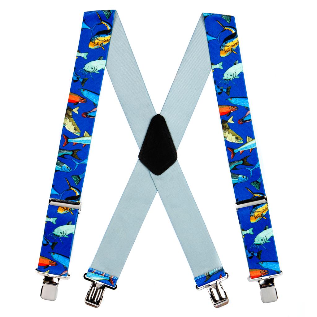 Mixed Fish Suspenders - Construction Clip