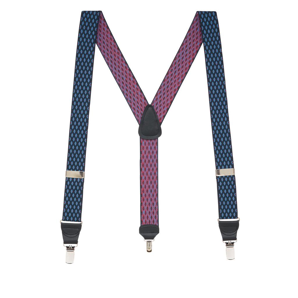 Jacquard Diamond Burst Clip Suspenders