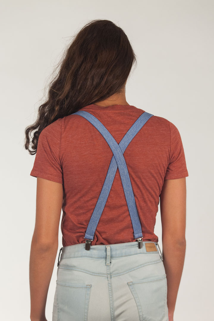 Denim Suspenders - 1 Inch Wide