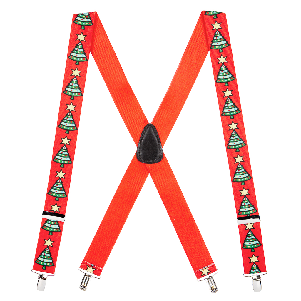 Christmas Tree Suspenders - 1.5 Inch Wide Clip