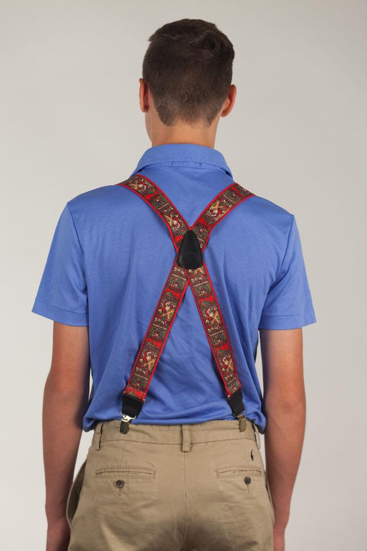 Kris Kringle Christmas Suspenders - Clip