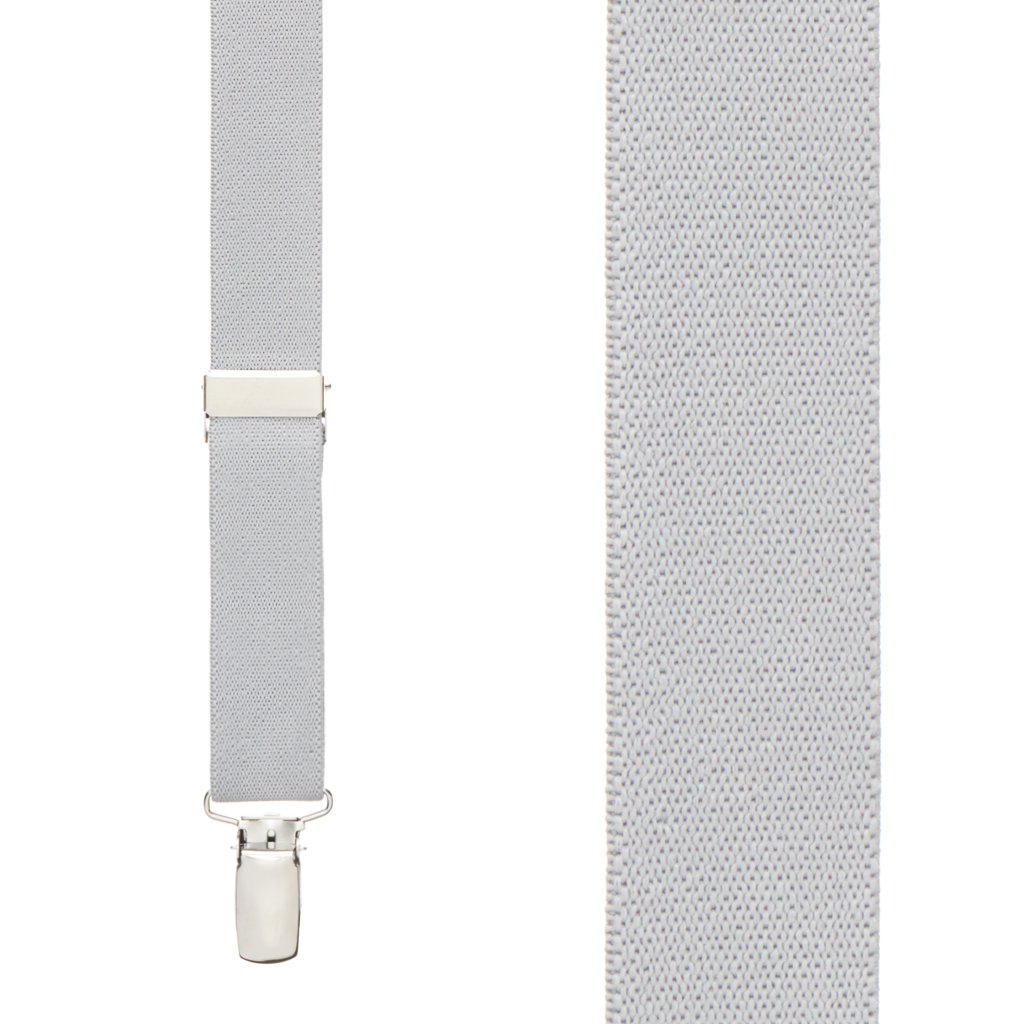Bow Tie and Suspenders Set - Light Grey