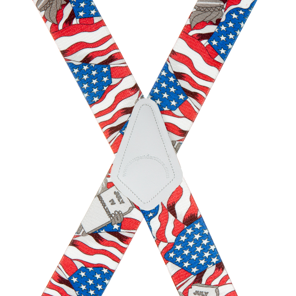 USA Liberty Suspenders - 1.5 Inch Wide