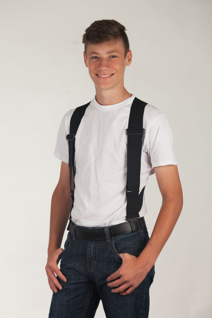 Black Side Clip Suspenders - Perry Belt Clip