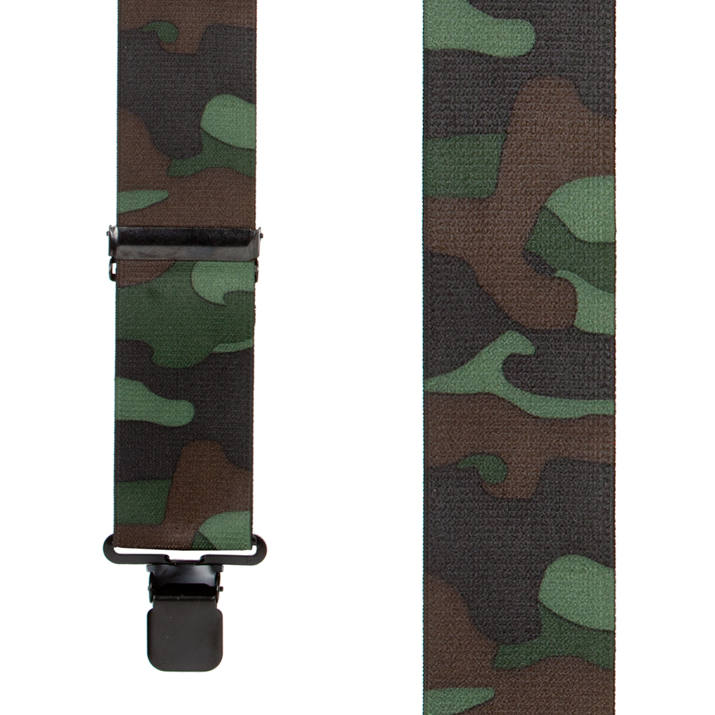 Woodland Camo Suspenders - 2 Inch Wide